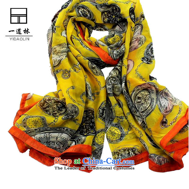 A forest euro version and classy towel upscale silk scarf warm shawl Business Gifts yellow