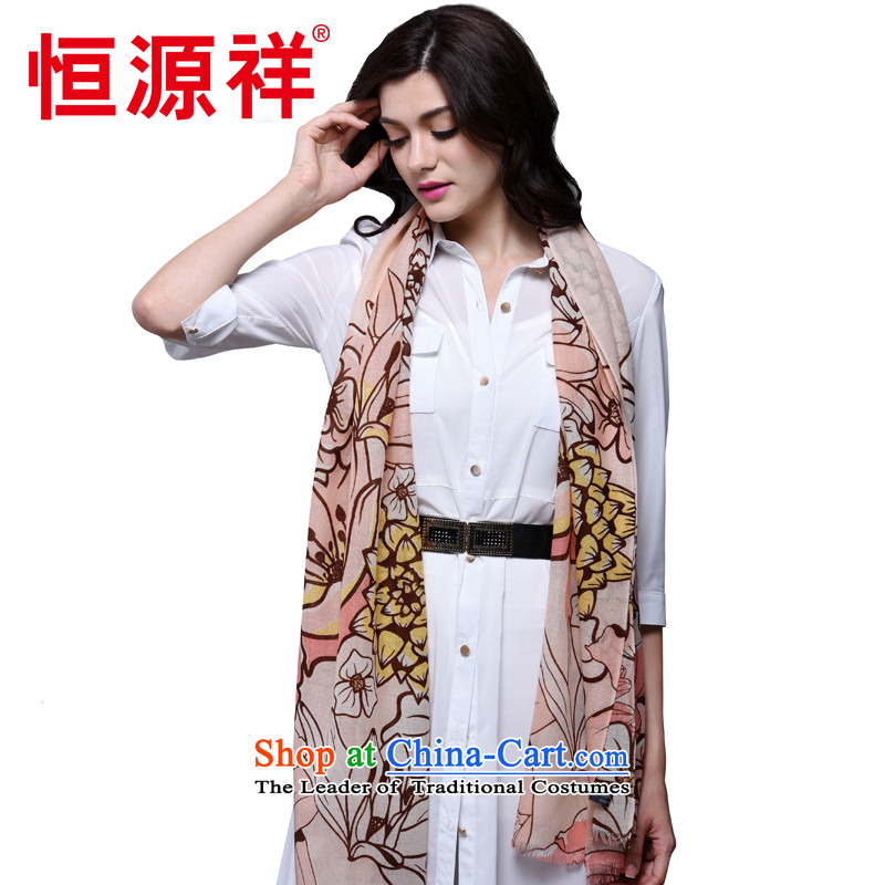 Hengyuan Cheung100% Ms. wooler scarf autumn and winter 70 support worsted stamp long warm towel Fancy Scarf (Boxset)H16006-E08-2