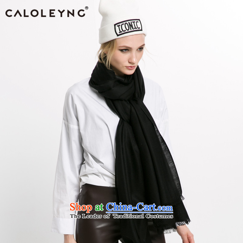 Charlotte sheep fleece scarf to black-haired girl new products use two of the scarf of autumn and winter large black