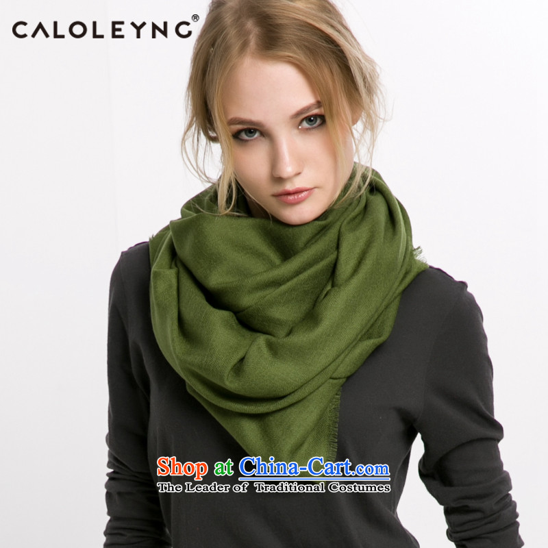 Charlotte to sheep fleece large scarf maxi shawl female Korean version of the new blue scarf two use of autumn and winter Olive