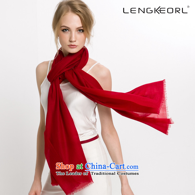 New Ling Ke cashmere shawls great muffler air-conditioning female pashmina two use of autumn and winter dark red