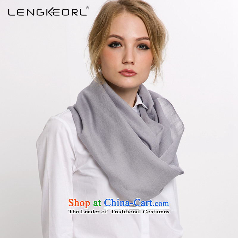 Ling Ke wooler scarf hundreds of longer air-conditioned shawl female silver gray woolen scarves two use of autumn and winter Silver Gray