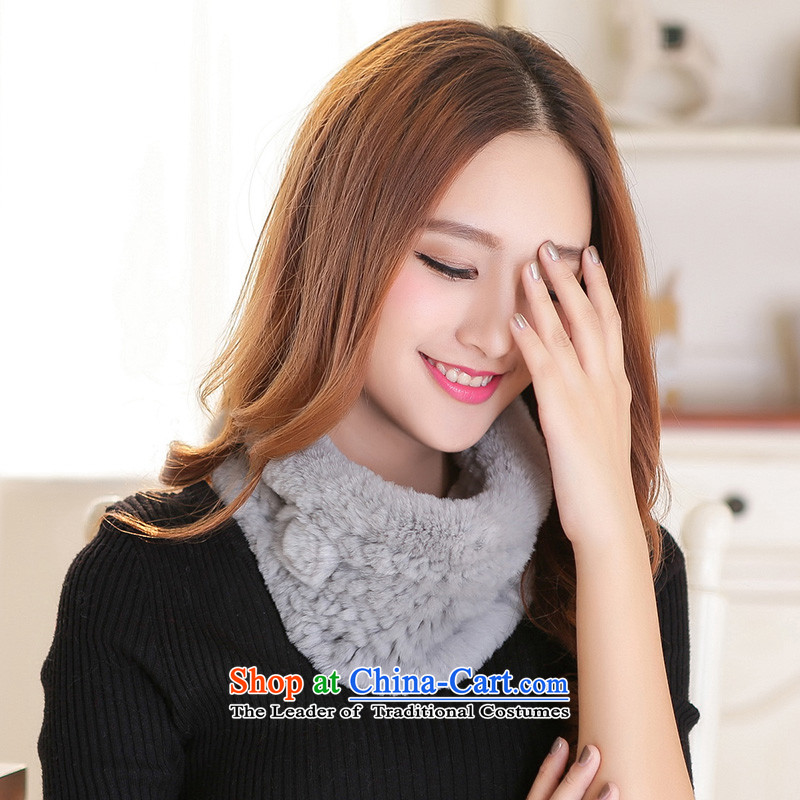Fur scarf of autumn and winter day new fur, rabbit hair a shawl stylish Korean warm winter thick a lovely gross collars Gray