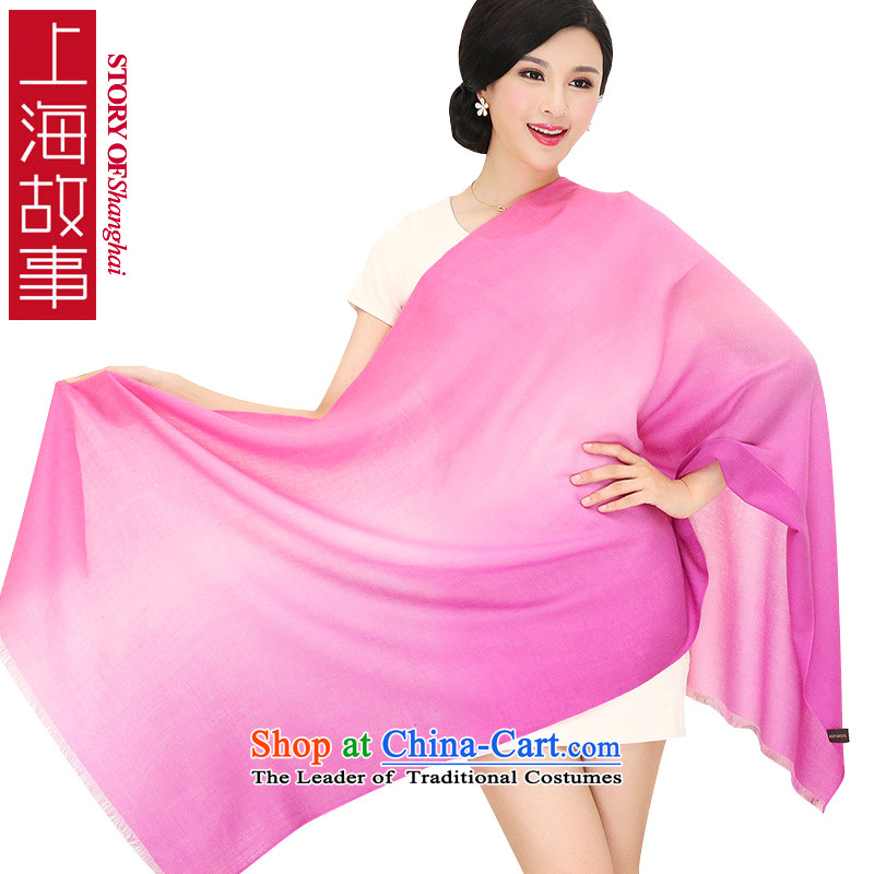 Shanghai Story wooler scarf women encryption 100 support dual-color gradient yarn large warm winterFH05 shawl in Purple