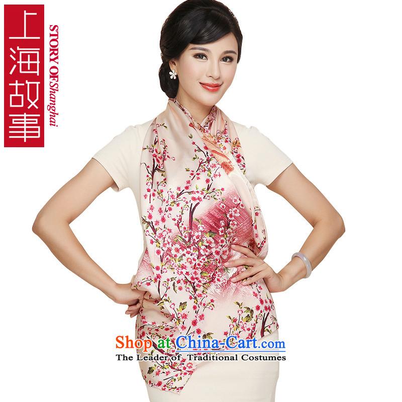 Shanghai Story Silk Satin classic New President Dos Santos silk shawls digital fabric silk scarfsHH11