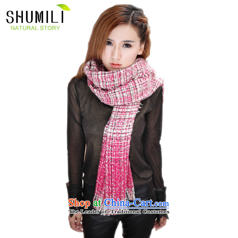 Mrs Carrie Yau, Ms. Mimi scarves knitted woolen scarves winter twist in the red-haired knitting
