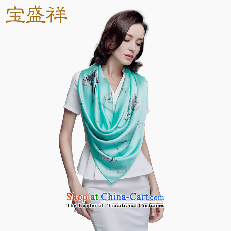 2015 Autumn Blossom Cheung new women's, silk and classy towel Ms. herbs extract the hijab shawl Dancing Green s9216 autumn colors