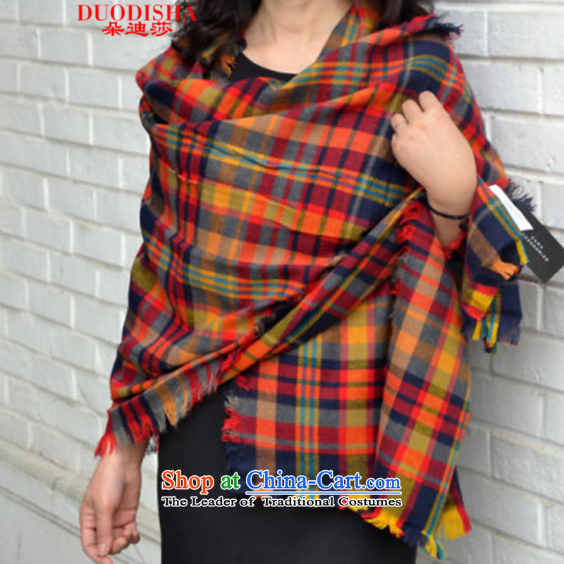 The latte macchiato Tanya 2015 to Seven Colored grid new autumn and winter long Fancy Scarf large shawl thick warm, a seven-color, 008