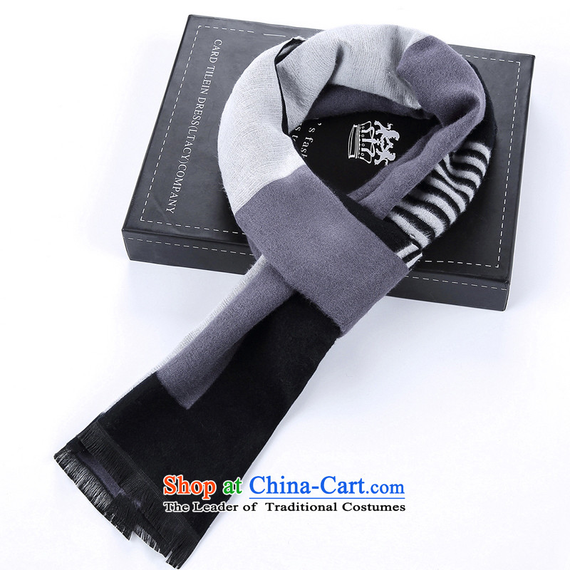 The new explosions of winter silk scarf personality soft Male and Female Male God gave the mandatory scarf plus Cashmere wool velvet black and gray