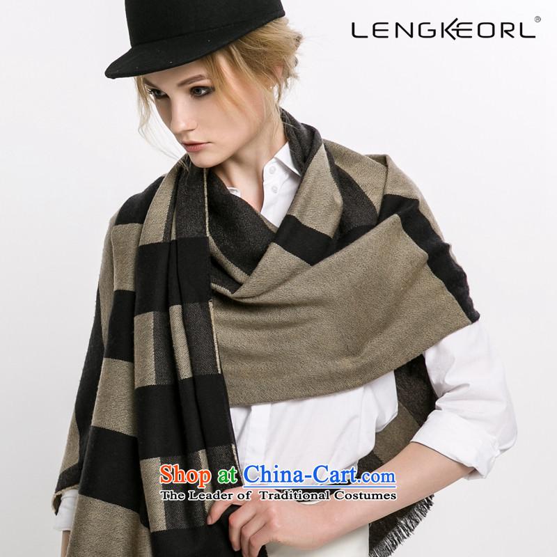 Ling Ke wool Fancy Scarf autumn and winter female a more ethnic4313wool latticed scarf shawl British Grid