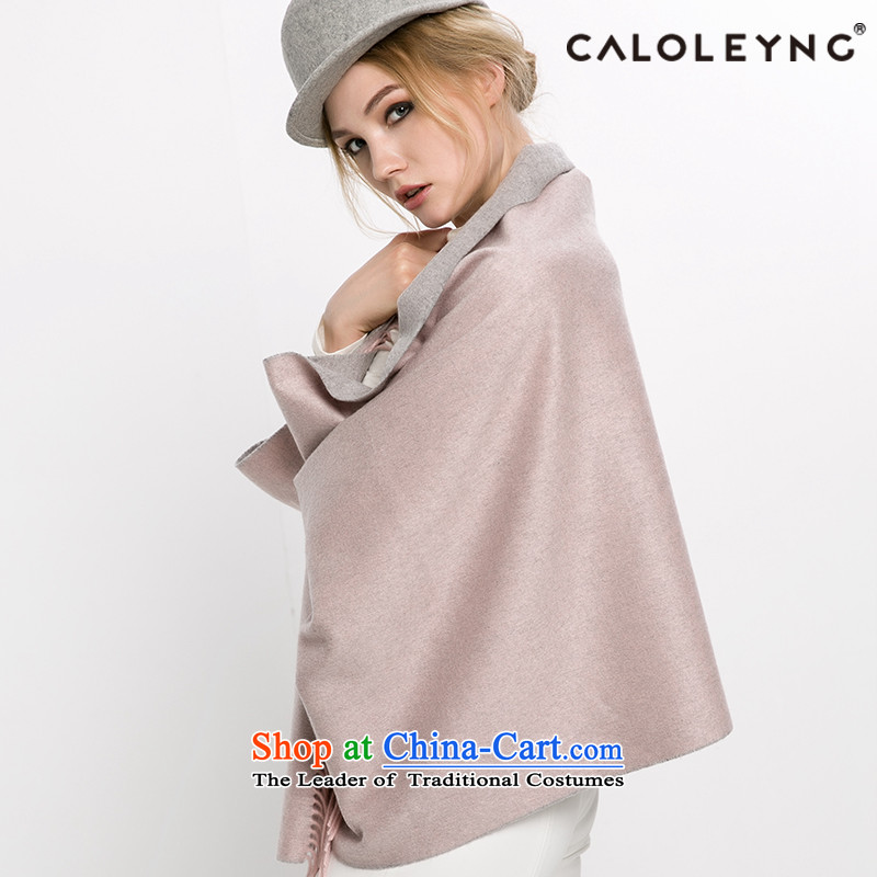 Charlotte to sheep fleece large scarf air-conditioning pashmina shawl female two-sided streams in Korean version of thick gray 2-sided shawl winter Powder