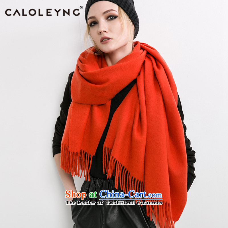 Charlotte to sheep fleece scarf shawl use two female winter wind scarf thick winter national cloak edging orange