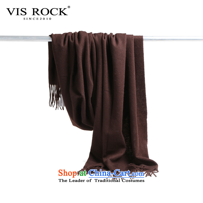 The Korean version of autumn and winter VISROCK the new president of the scarf leisure _pashmina shawl scarf two stylish warm deep brown long 180 cm width70 cm