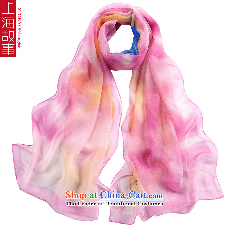 Shanghai Story silk scarves girls increased size of the scarf female HX07 herbs extract