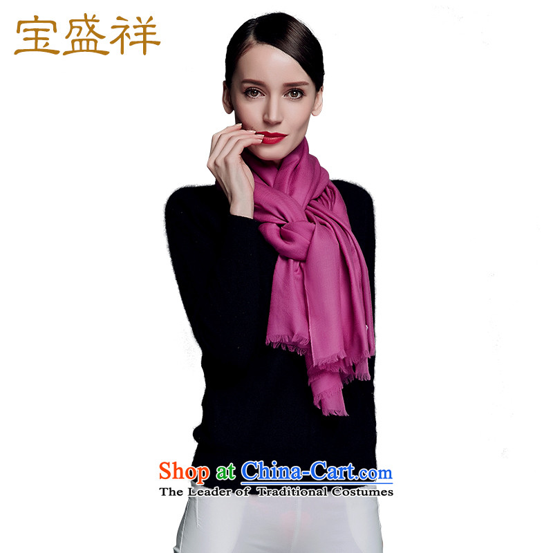 Ms. Cheung blossom fine wool Fancy Scarf Two with a long history of autumn and winter new 300 Pure water-soluble solid rings polester velvet shawl wool Purple