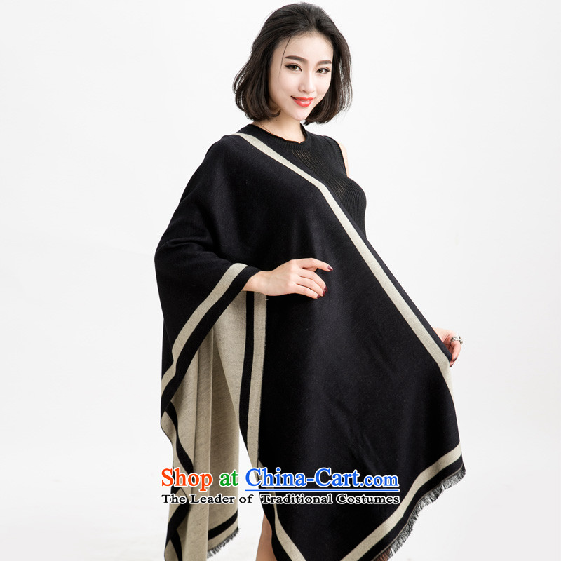 The autumn and winter new Western big hit the edges, two-color two-sided pashmina shawl large color 005