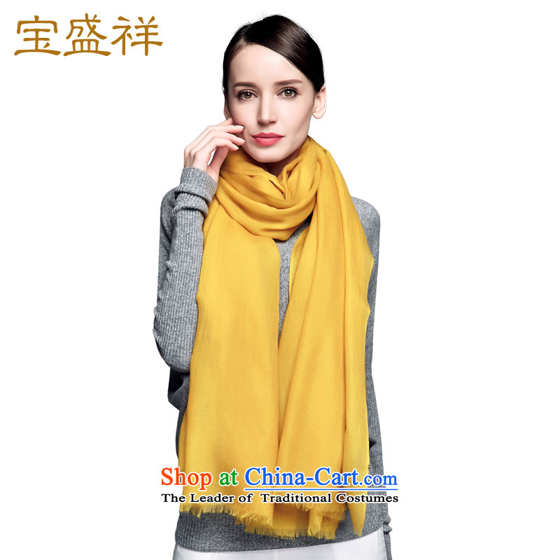 Blossom Cheung air-conditioning shawl autumn and winter 200 pixel color Ms. Cashmere wool scarf female long warm Wai Shing turmeric yellow