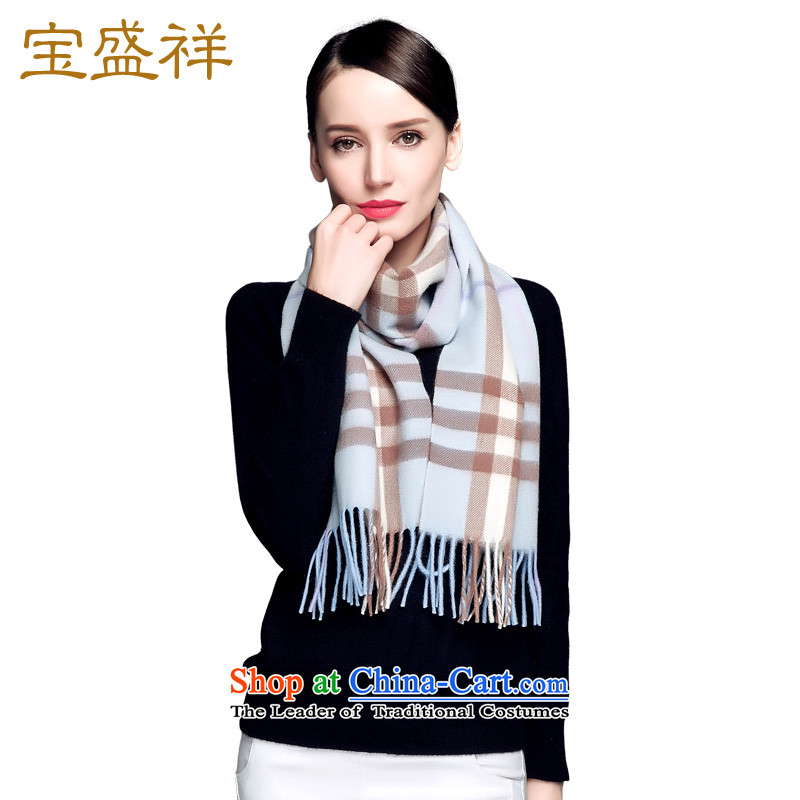 Eric Blossom Ms. pashmina shawl warm color grid a Cashmere scarf warm Wild Wild blue checked