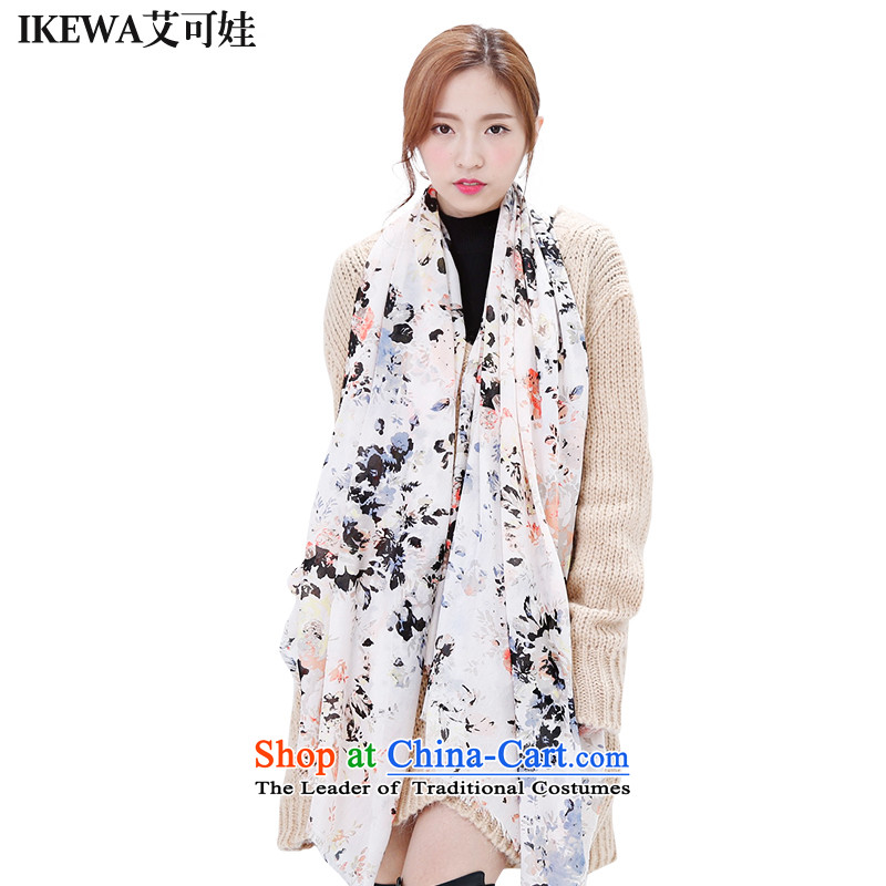 Hiv can be wa IKEWA emulation silk scarves scarves, 2015 autumn and winter han bum-fresh flowers of color wild shawl scarf pale pink