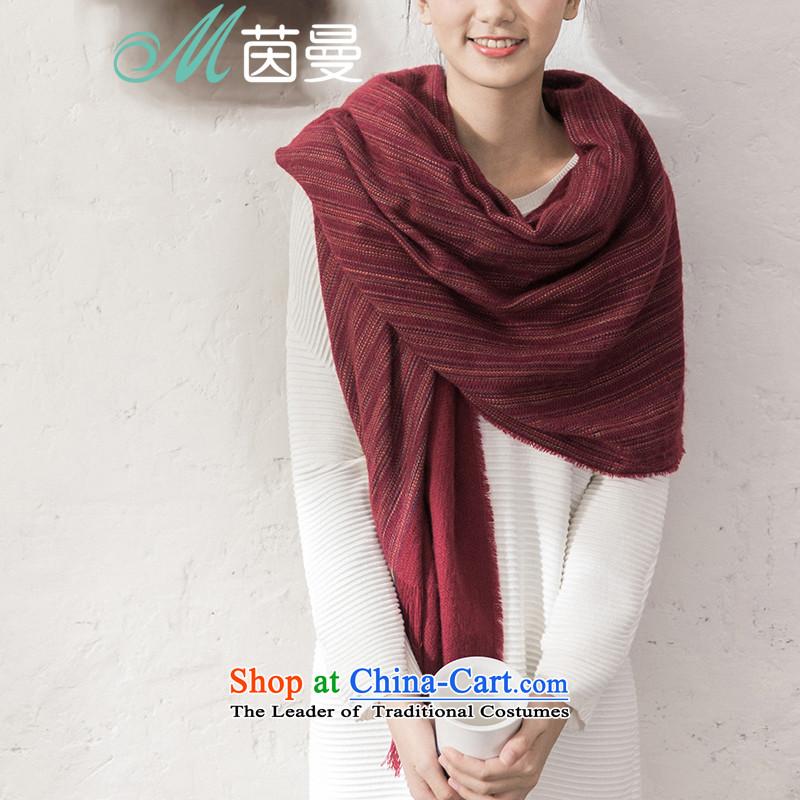 Athena Chu new autumn 2015 Cayman thin scarf arts wild _854140215- Wine red wine red