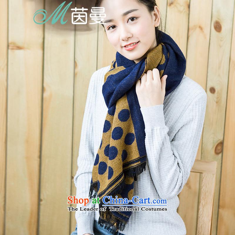 AthenaChu Load New Cayman 2015) Ms. scarf arts wild wave point shawl scarf girl (854140214] turmeric yellow turmeric yellow