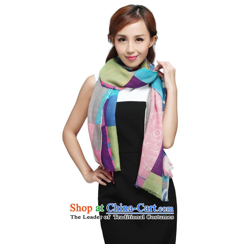 Hengyuan Cheung 2015 thin wooler scarf continental retro geometric stitching 6335 6708 65_180 scarf