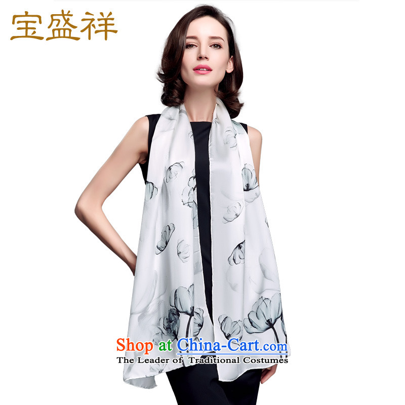 Eric blossom in the fall of 15 new women silk long towel sauna silk satin shawl a dancing light blue S9514 autumn colors