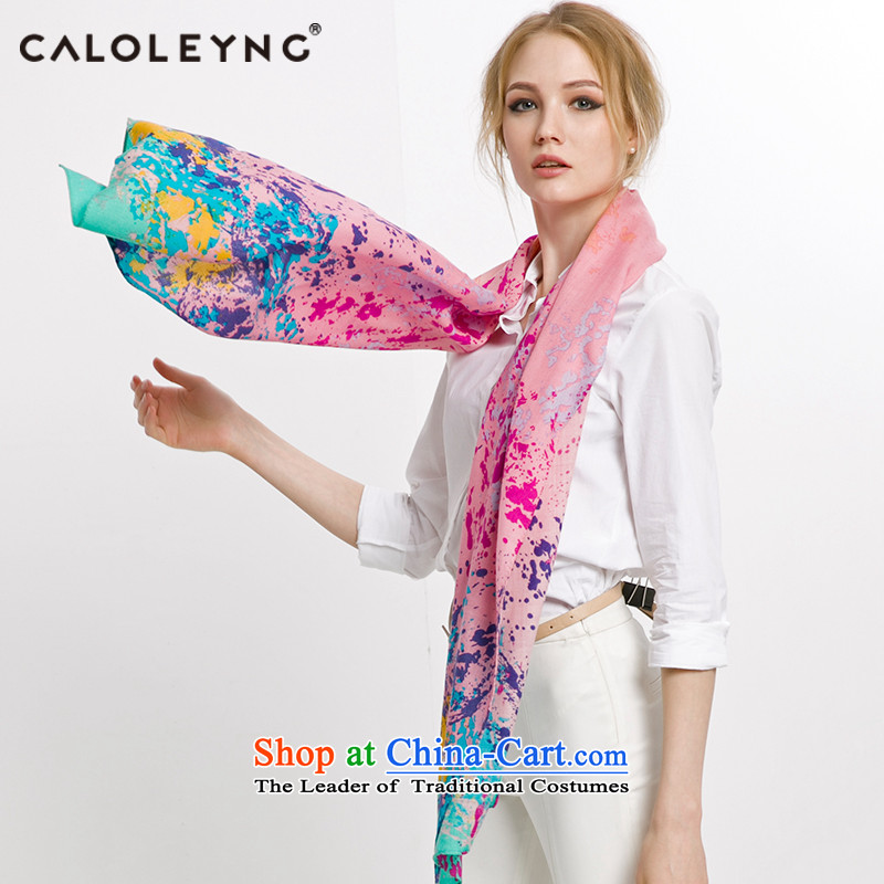 Charlotte sheep fleece scarf to Ms. long wool long winter spring and autumn scarf duplex Pink
