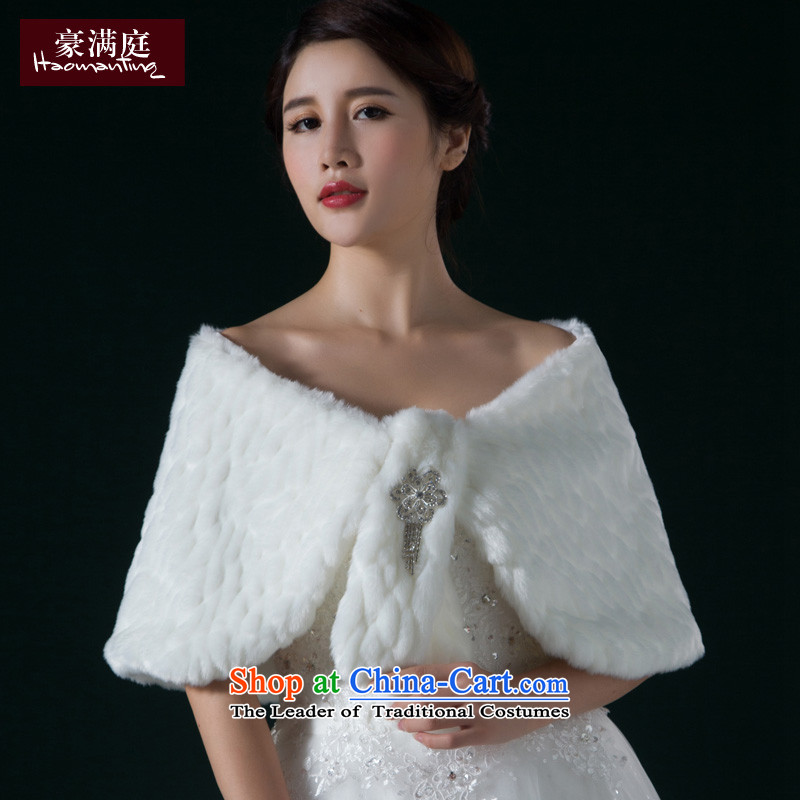 2015 Autumn and winter new anti-off Cape Gross Gross new material wedding shawl bride short white hair, white-haired