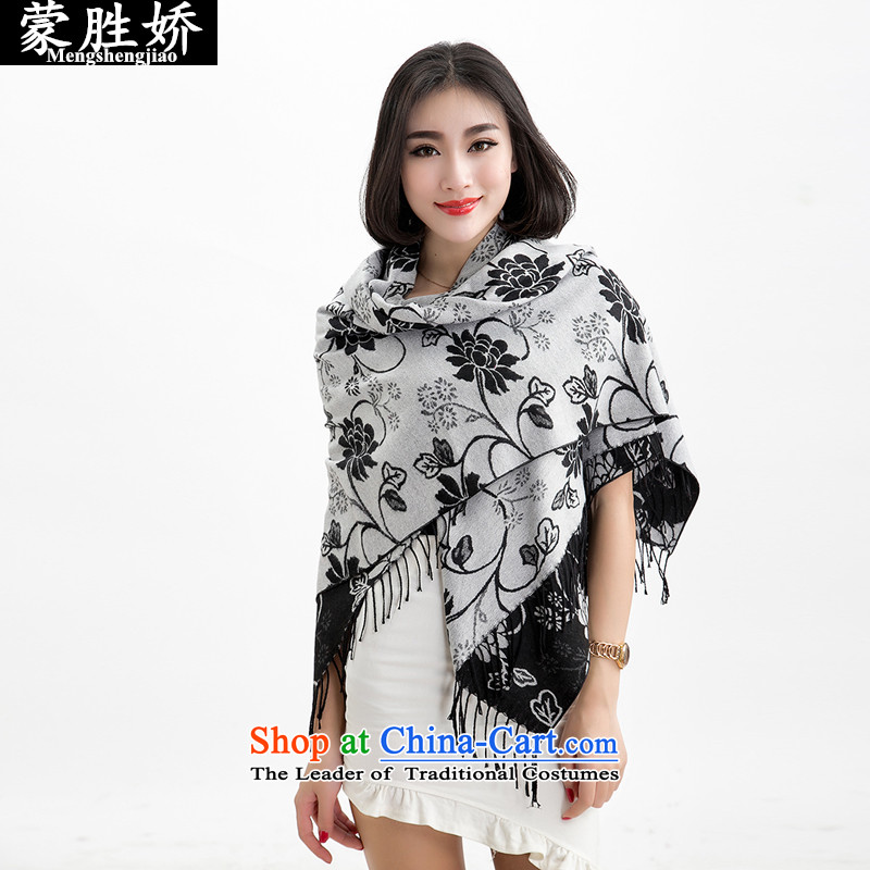 Use the new 2015 Monrovia wins autumn and winter female pashmina shawl two with the double-sided printing and classy towel thick intensify woolen shawl 002