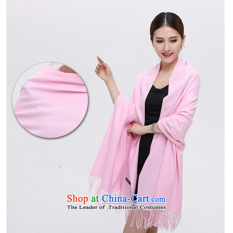 Mongolia to 2015 autumn and winter wins new cashmere shawls a scarf two plain color woolen scarves shawl oversized Thick edging shawl Pink