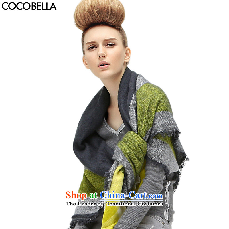 Cocobella 2015 autumn and winter new Western Wind wild stylish with large segments of the two shawls scarves WJ22 gray Huang code