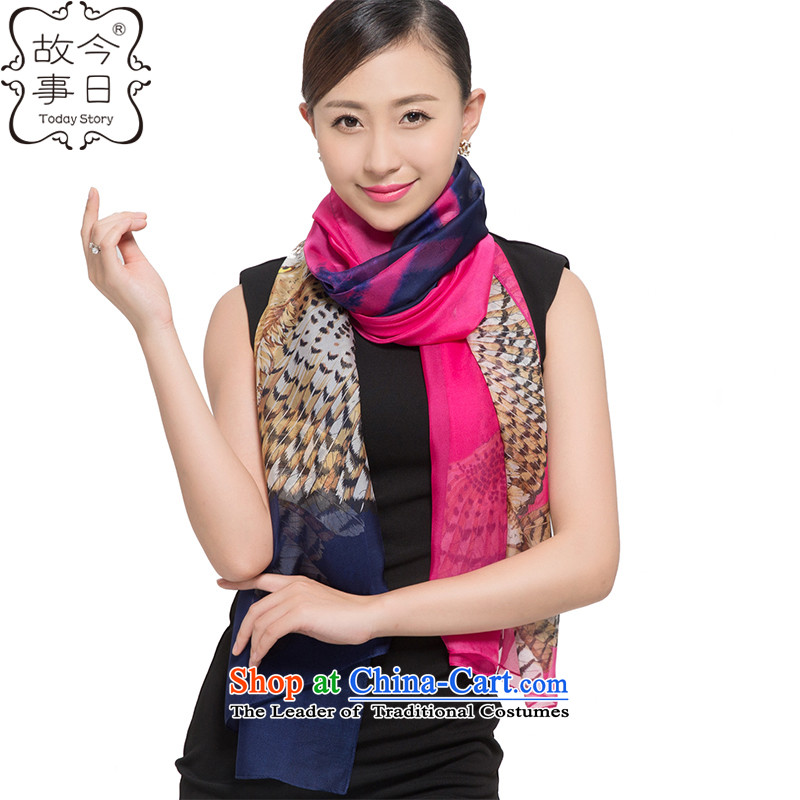 Today story autumn and winter chiffon Ms. warm intensify widen Fancy ScarfJ5140blue.