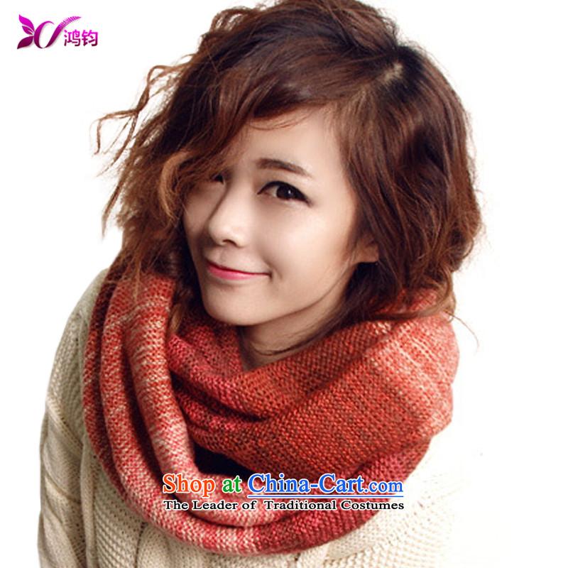 Che-Kwan Wai Shing Korean autumn and winter Ms. knitting multicolor head scarf female Korean winter long Ms. Chokeholds scarf winter 150CM_30CM color 05