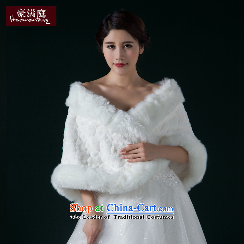 Winter wedding gross new bride shawl 2015 wedding dress white cape long thick warm larger cloak White