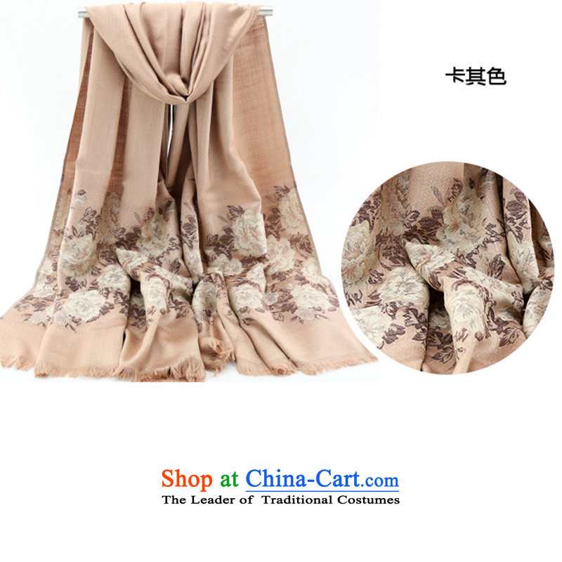 The autumn and winter female shawl4313scarves, ethnic long scarf khaki