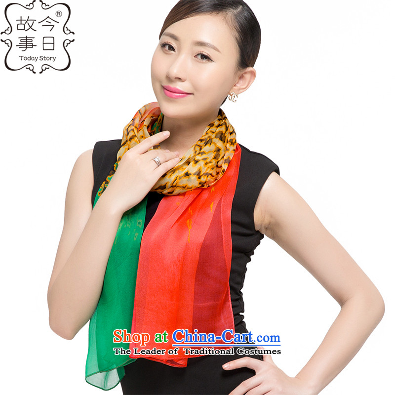 Today story autumn and winter silk scarves female sauna silk scarf shawl J51514313 green