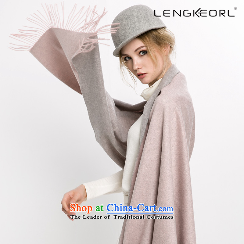 Ling Ke wool large scarf air-conditioning a woman shawl pashmina two Korean version 2-sided edging thick winter toner gray 2-sided