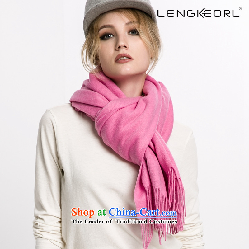 Ling Ke wooler scarf hundreds of larger shawl cloak female scarves with two Thick edging of autumn and winter Pink