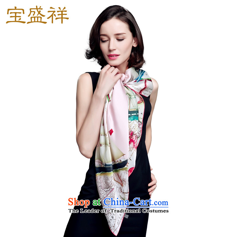 Eric blossom silk scarves female summer herbs extract scarf female sunscreen shawl masks in yellow