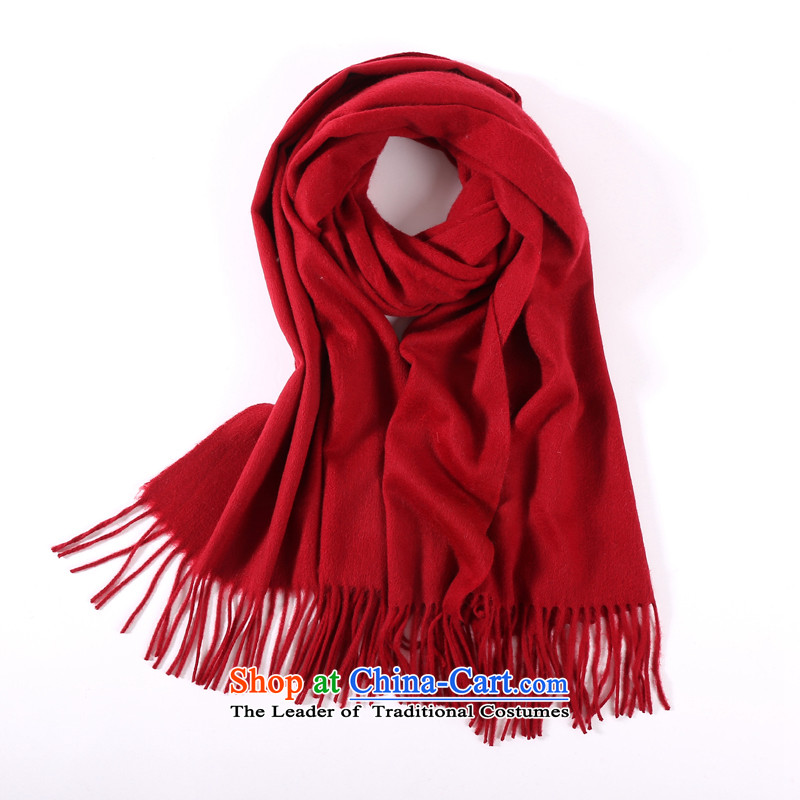 The estimated new Europe and the beauty of pure colors Lamb Wool Velvet shawl long stream of high-end wooler scarf two couples Ms. Winter warm thick upscale holiday gifts Lamb Wool Velvet shawl chestnut horses