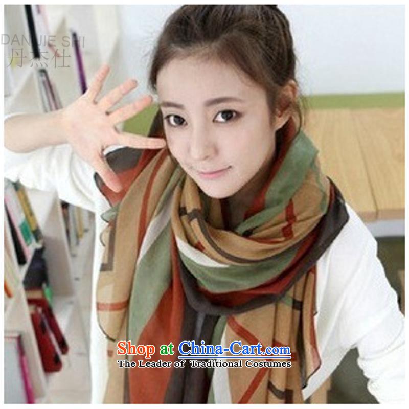 Dan Jie Shi 2015 Korean autumn and winter, warm red scarf Voile shawl winter scarf170*80cm brown
