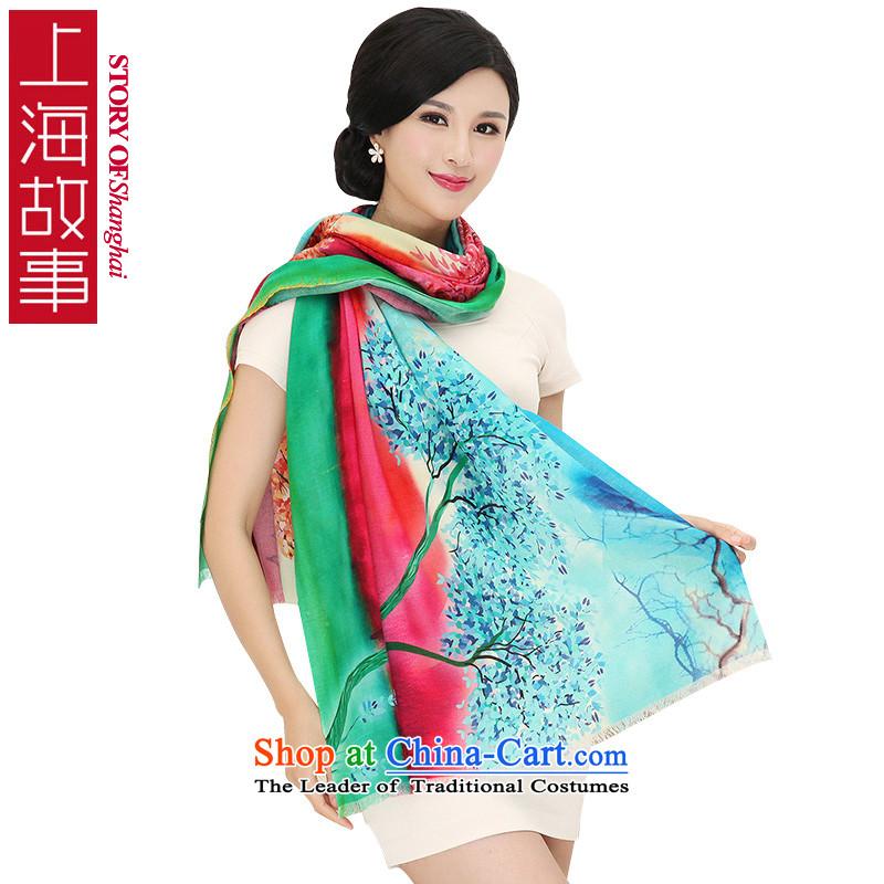 Shanghai Story digital inkjet wooler scarf autumn and winter new Korean president large warm a shawlRX14