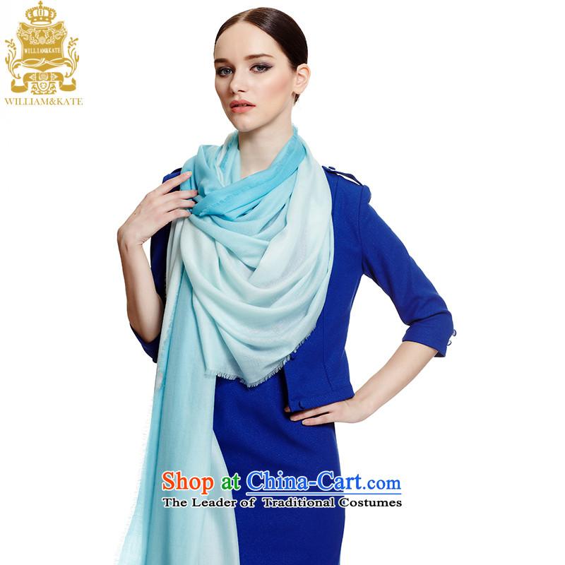 Williams _ Kate WILLIAM_KATE female autumn and winter pashmina 300 Cashmere scarf shawl4313gradient blue gradient WJ35469