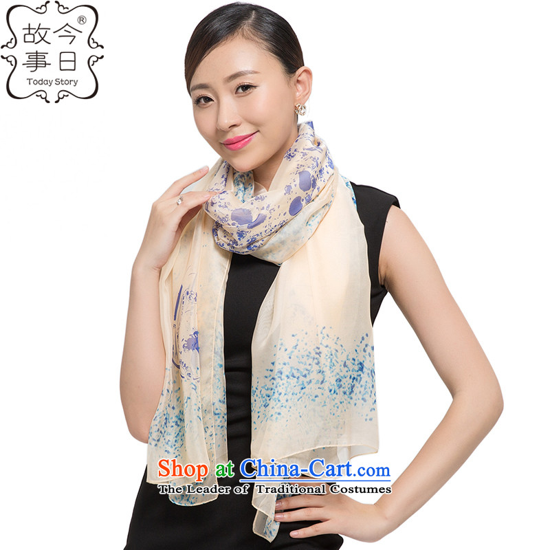 Today the story of autumn and winter, widen the female shawl chiffon long towelJ5139beige