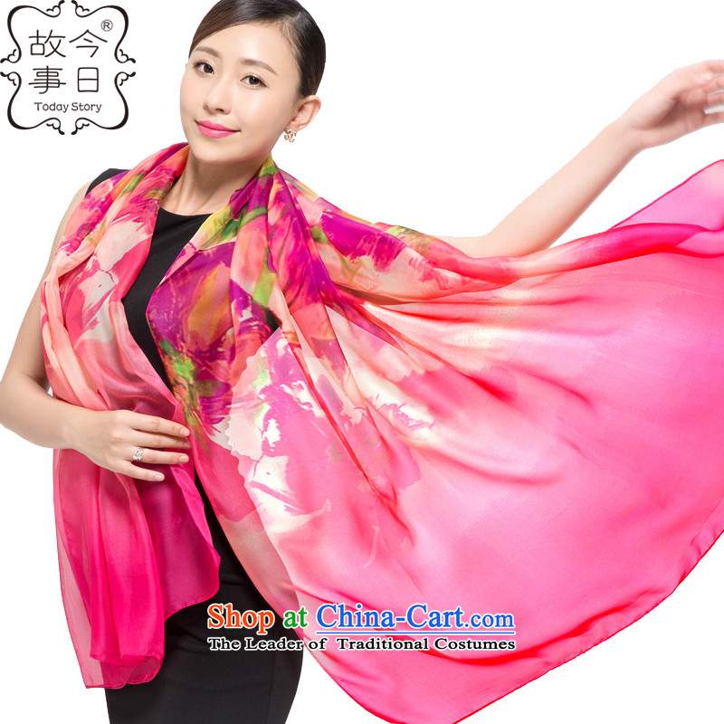 Today story autumn and winter chiffon long towel shawl scarfJ5142 girlin red