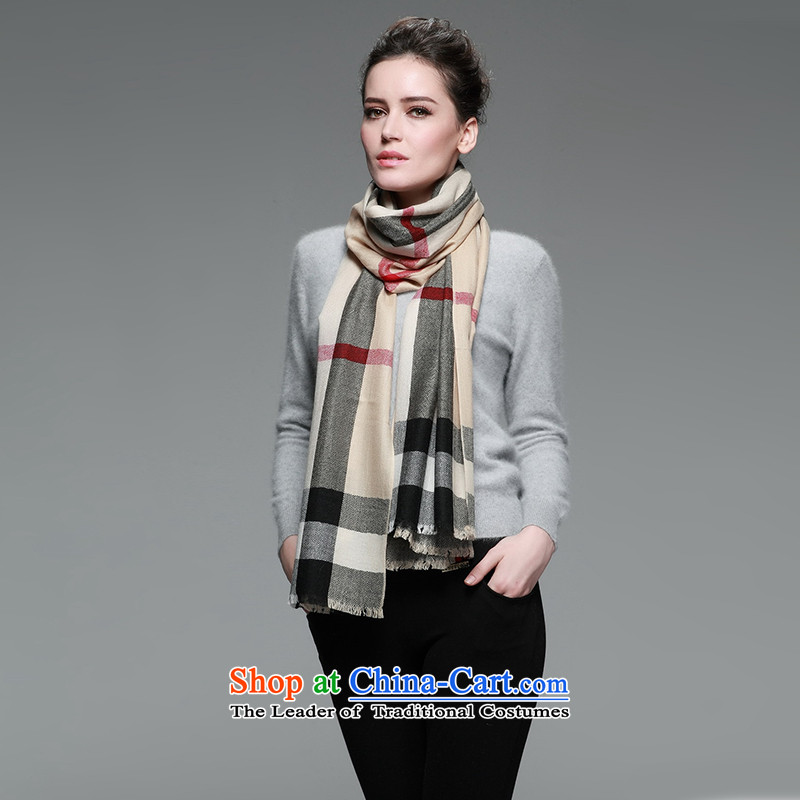 Eric blossom autumn and winter new inner mongolia fine wool women scarves Ms. men grid wool Handkerchief too warm apricot large, shawl Po Shing Cheung shopping on the Internet has been pressed.