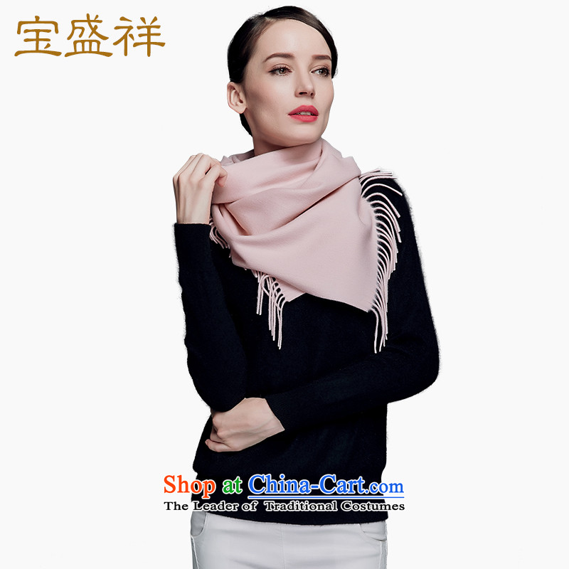 Eric blossom autumn and winter Cashmere wool scarves new classic plain solid, wool and also handkerchief scarf Pink