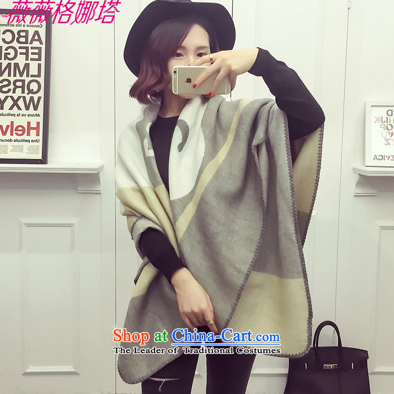 Weiwei Grid Natasha autumn and winter the new Europe and the lovely little duck president stamp scarf stylish warm shawl AA15414313main150_120cm