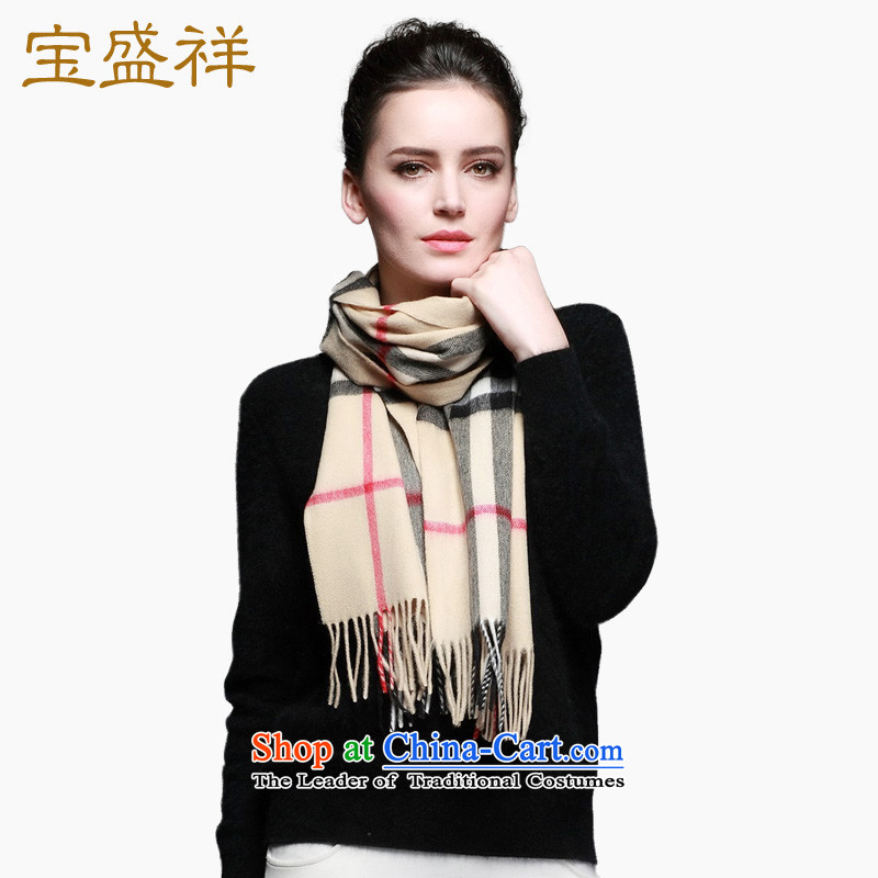 Eric Blossom Ms. pashmina shawl warm color grid a Cashmere scarf warm Wild Wild and color grid